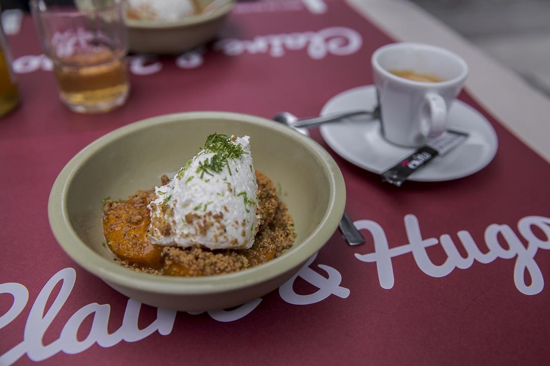 Dessert aux abricots chez Claire et Hugo foodtruck Troyes en Champagne