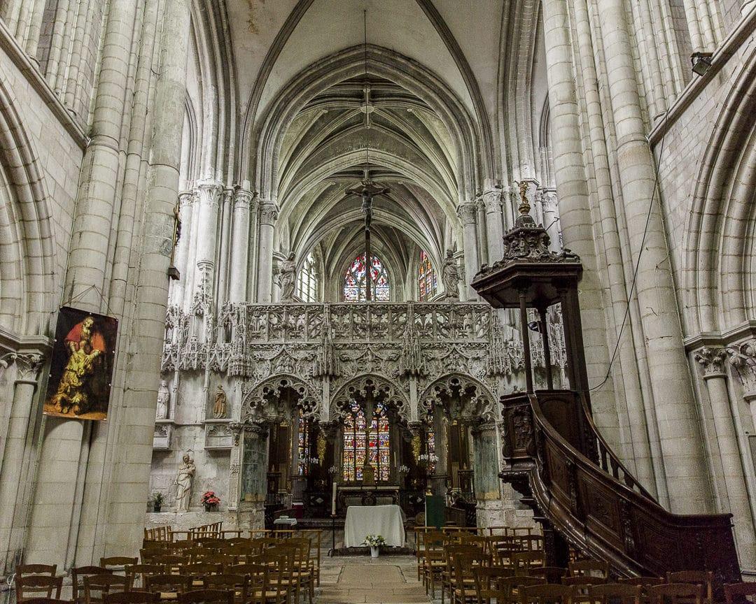 Jubé gothique de l'église de la Madeleine