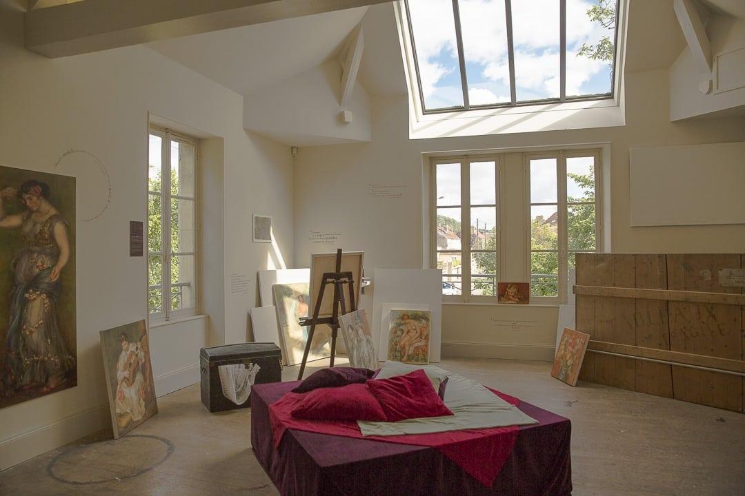 Intérieur de l'atelier Pierre-Auguste Renoir