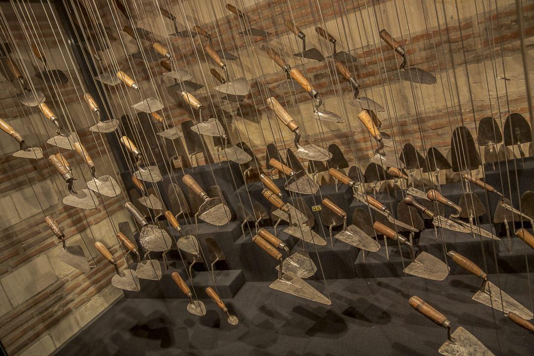 les truelles du musées des outils à Troyes en Champagne