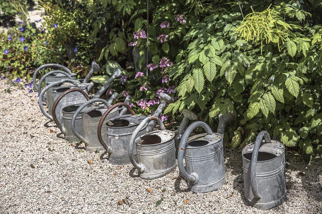 Les arrosoirs des jardins de mon moulin