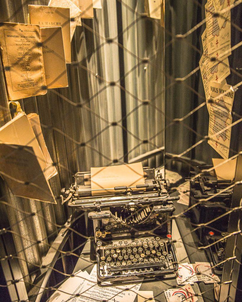 Machine à écrire Mémorial Charles de Gaulle