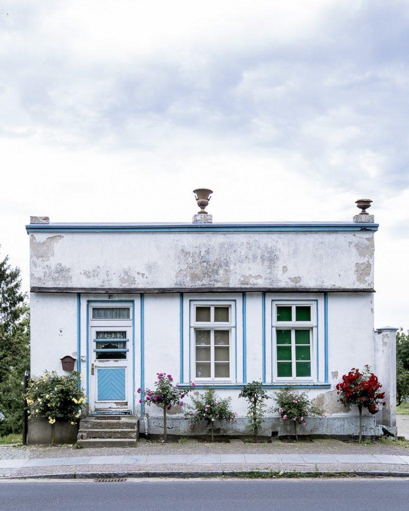 Une façade de Putbus sur l'île de Ruegen en Allemagne