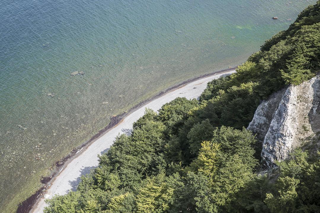 Le parc national de Jasmund vue du haut des falaises - Ruegen, Allemagne