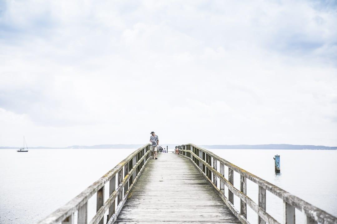 Ponton de Sassnitz sur la mer Baltique - Ruegen, Allemagne