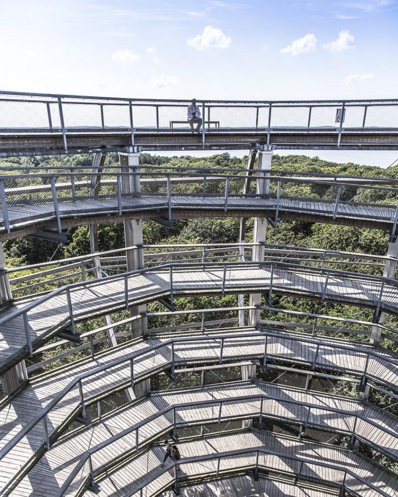 Montée du centre de la nature, Ruegen, Allemagne