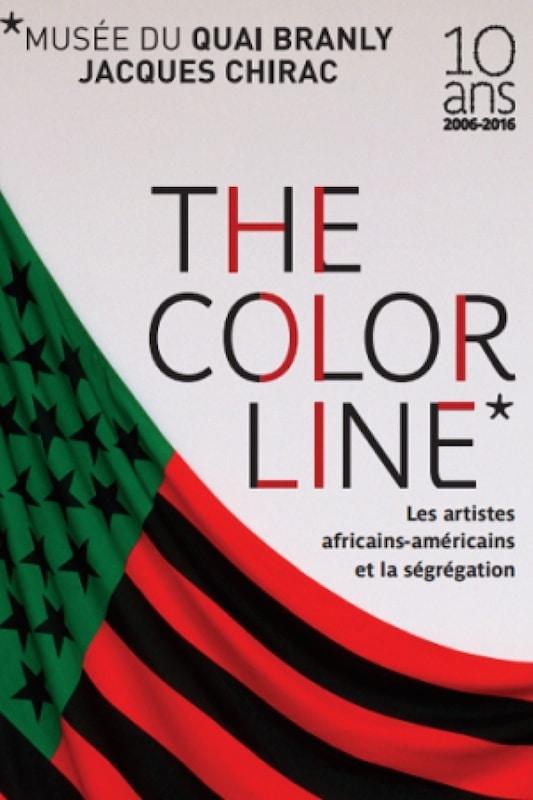 Affiche The color line, une expo qui se déroule au quai Branly jusqu'en janvier 2017