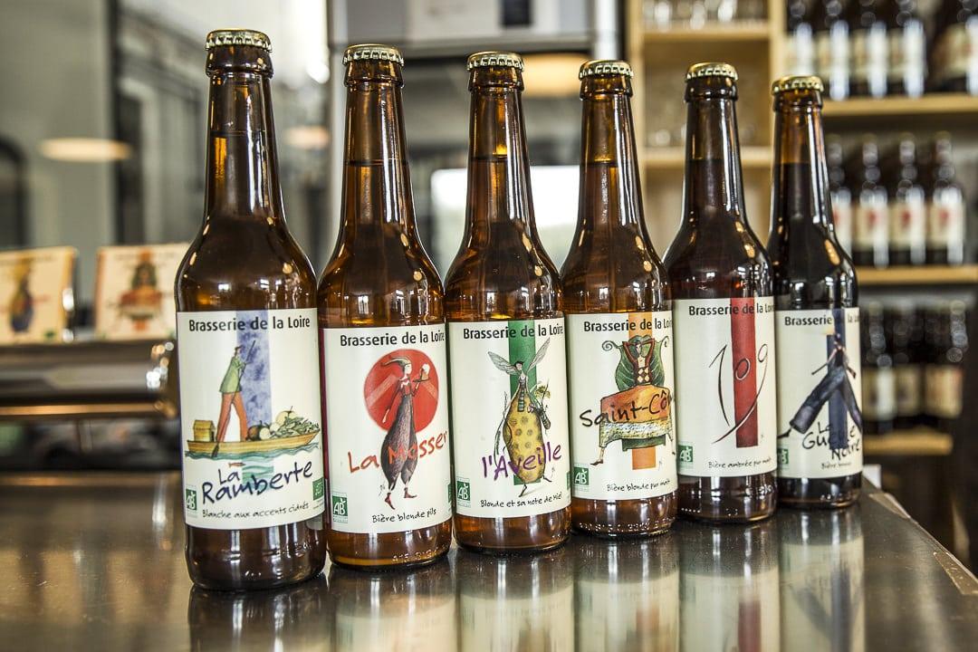 Gamme de bières artisanales de la brasserie de la Loire, Saint Just Saint Rambert - Loire, France