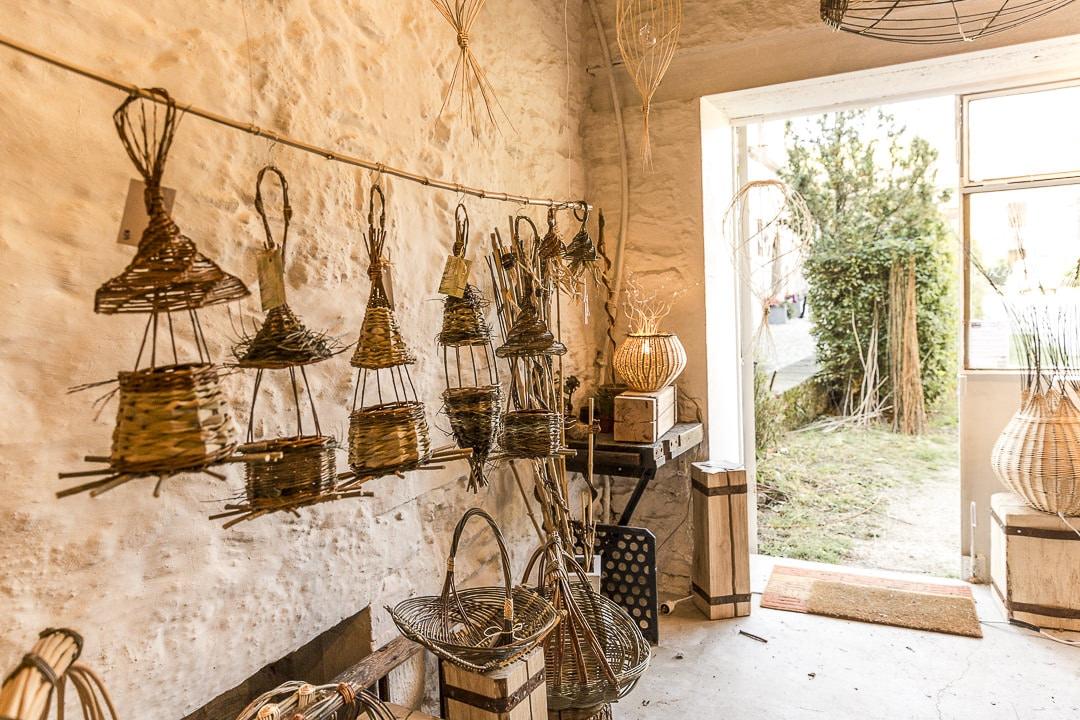 Week-end dans la Loire : l'atelier de tressages d'Alexandra Ferdinande à Sainte Croix en Jarez - Loire, France