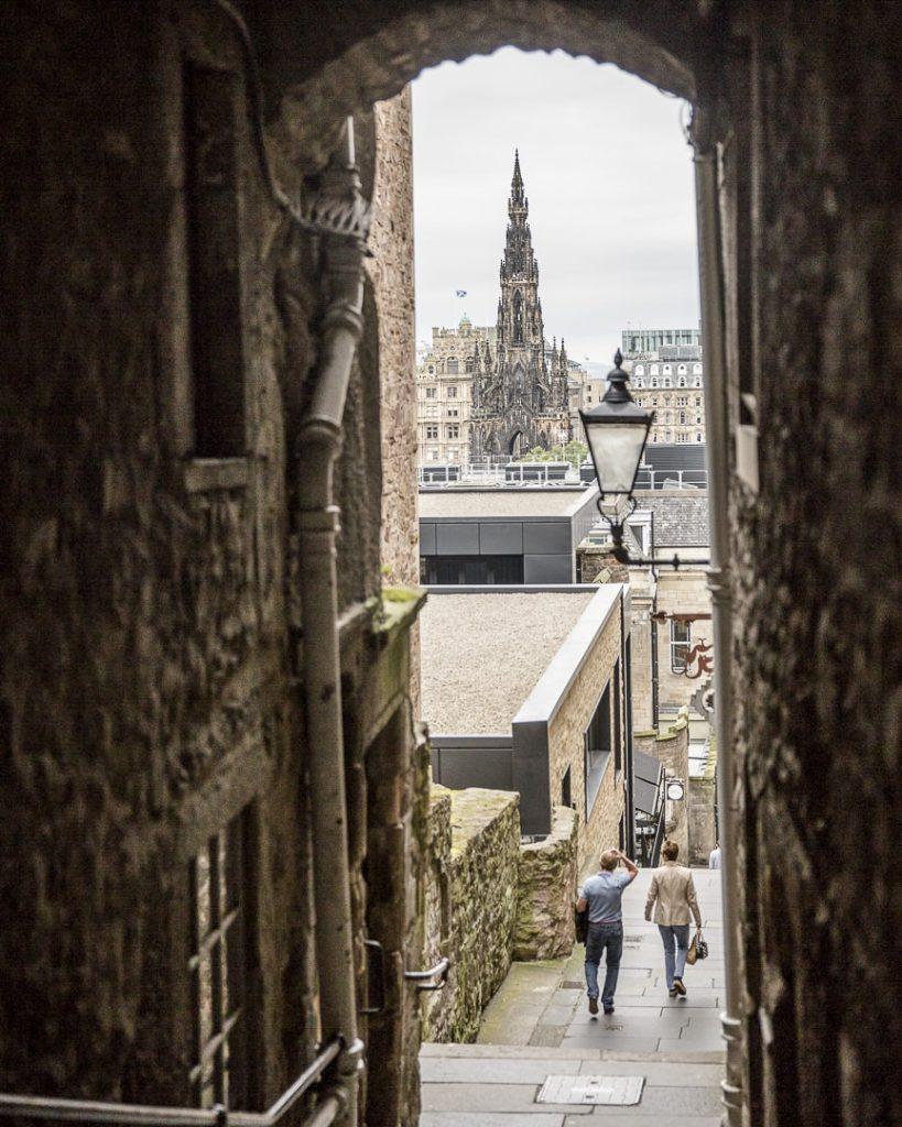 Un des fameux passages du viel Edimbourg - Ecosse