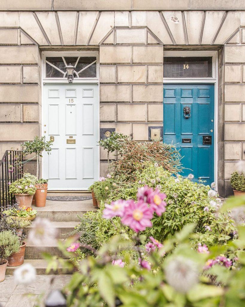 Les jolies portes colorées de Stockbridge - Edimbourg Ecosse
