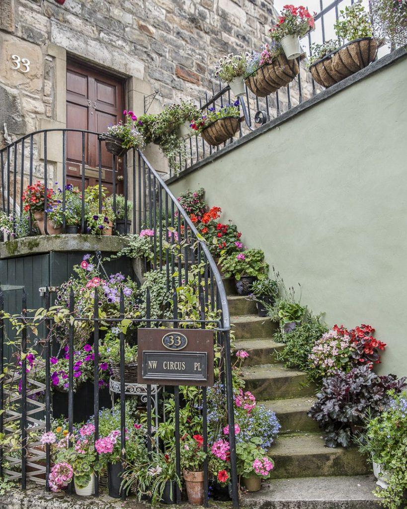 Maison fleurie de stockbridge - Edimbourg, Ecosse