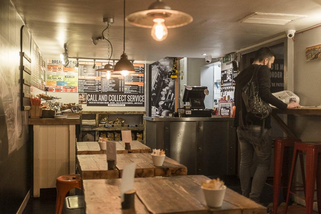 The caffeine dip, café sud africain à Edimbourg