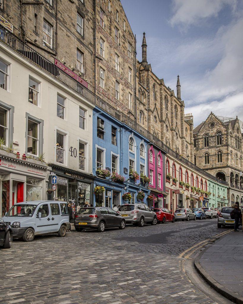 Victoria Street à Edimbourg en Ecosse