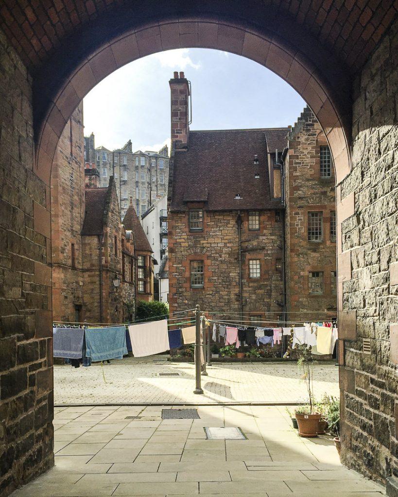 La cour intérieur de Well court - Dean Village Edimbourg