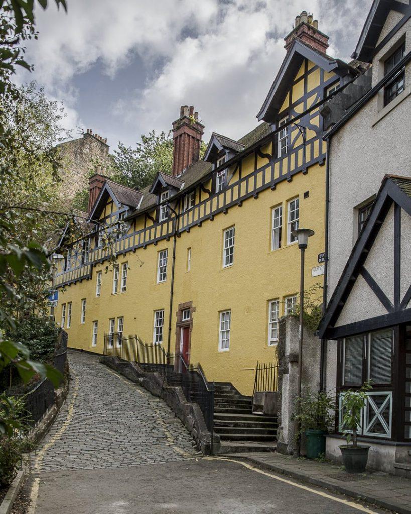 La rue jaune de Dean Village