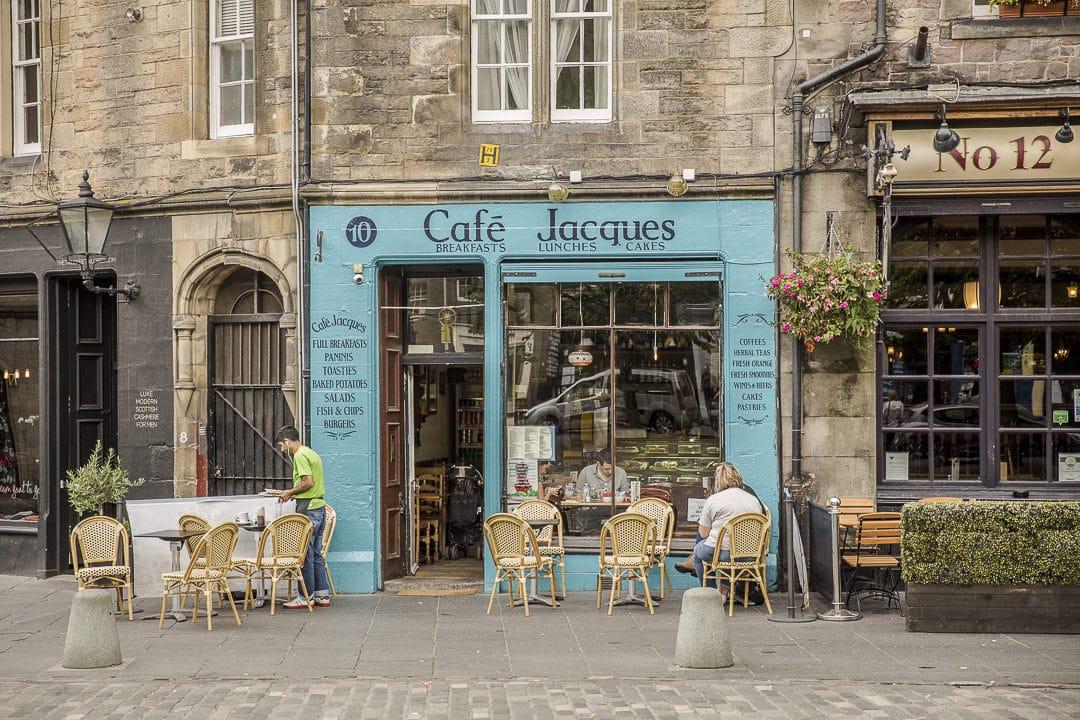 Le café Jacques à edimbourg - Ecosse