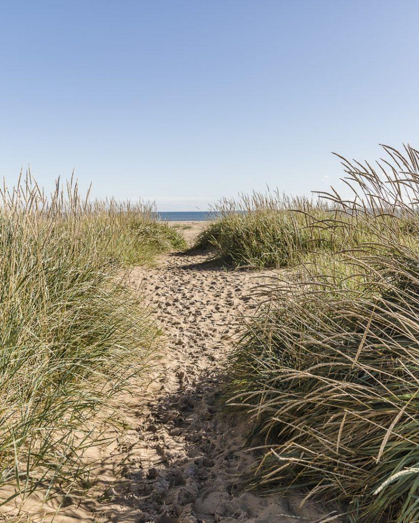 Arrivée sur la plage de Durnoch - Ecosse