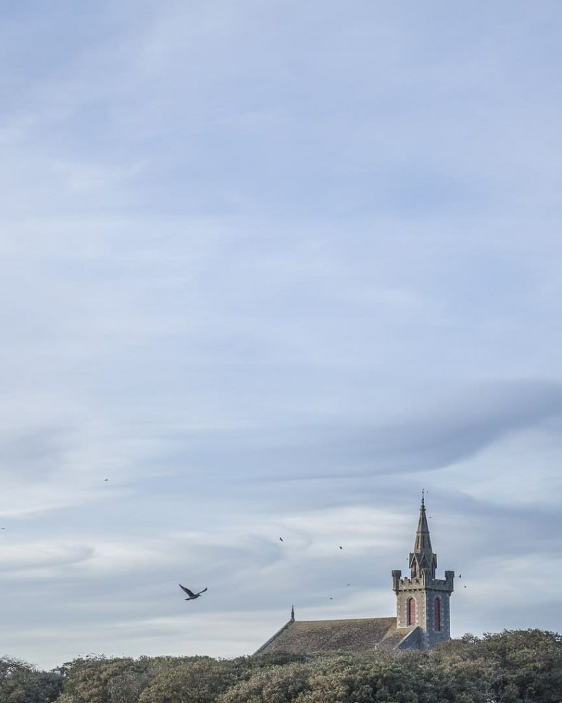 Coucher de soleil sur le clocher de Wick - Ecosse