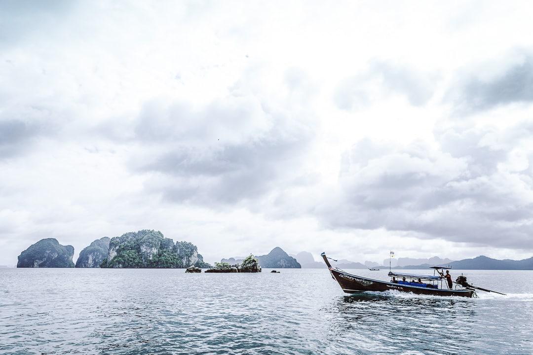 Les pêcheurs de la baie de Phang Nga - Thailande