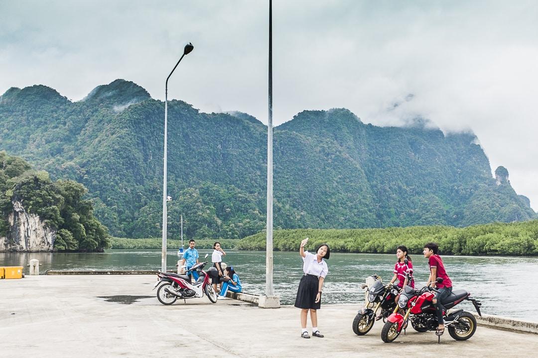 Selfie time sur Tha Len Pier - Krabi, Thaïlande