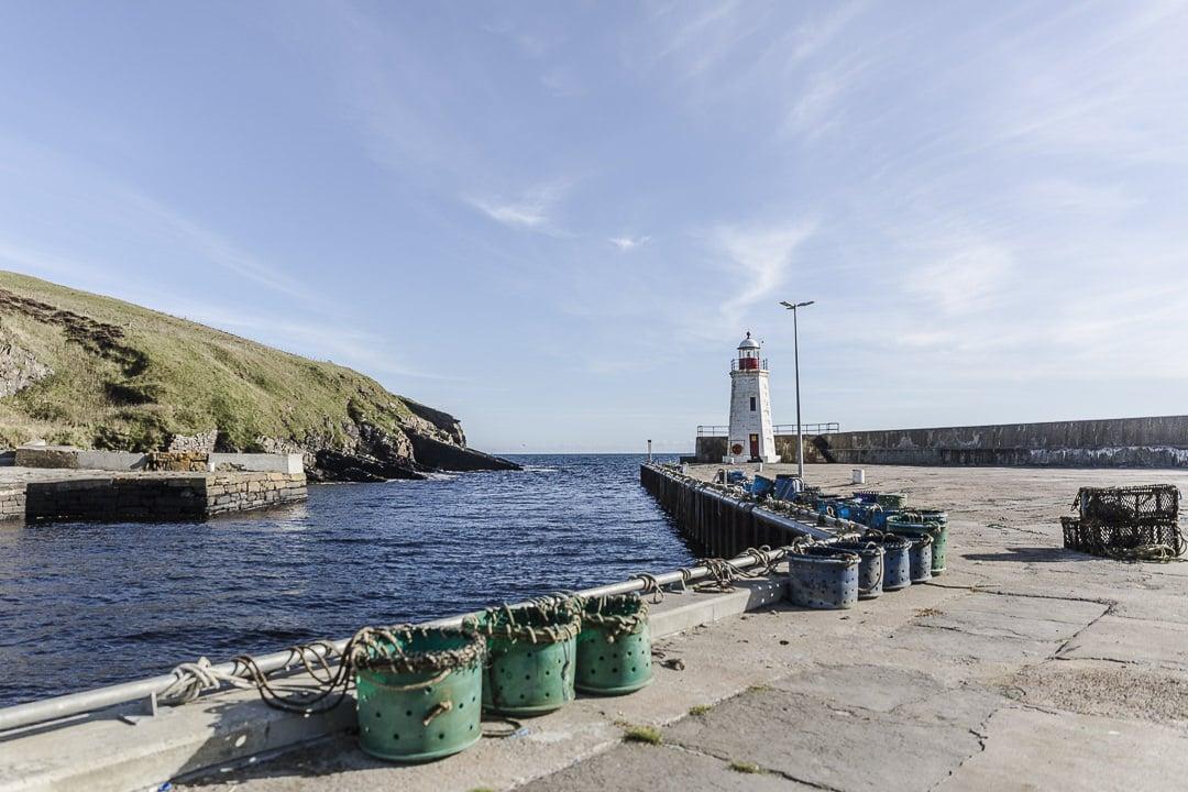 le phare du port de Lybster - sur la North coast 500 en Ecosse
