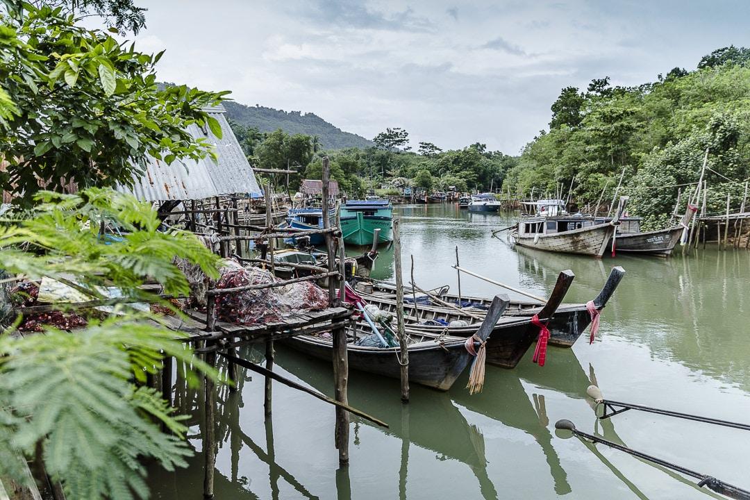 Port de pêche sur Koh Yao Noi - Baie de Phang Nga, Thailande