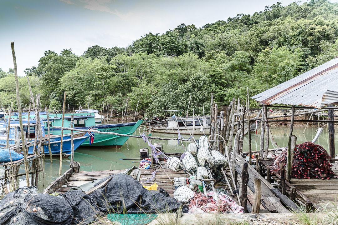 Port de pêche Koh Yao Noi - Baie Phang Nga, Thailande