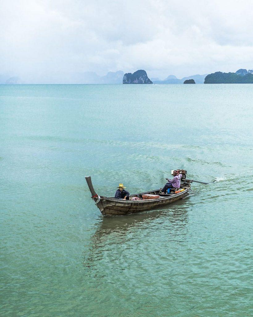 Retour de pêche sur Koh Yao Noi - Baie de Phang Nga, Thaïlande
