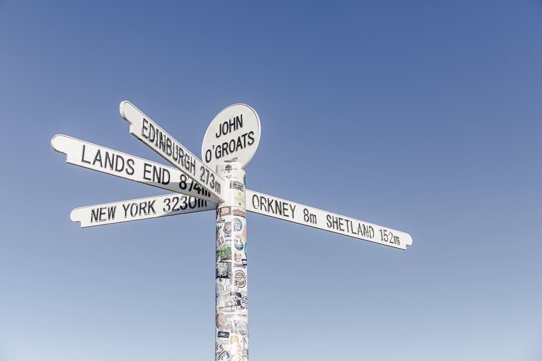 John o'Groats le point le plus au nord de l'ile de Grand Bretagne