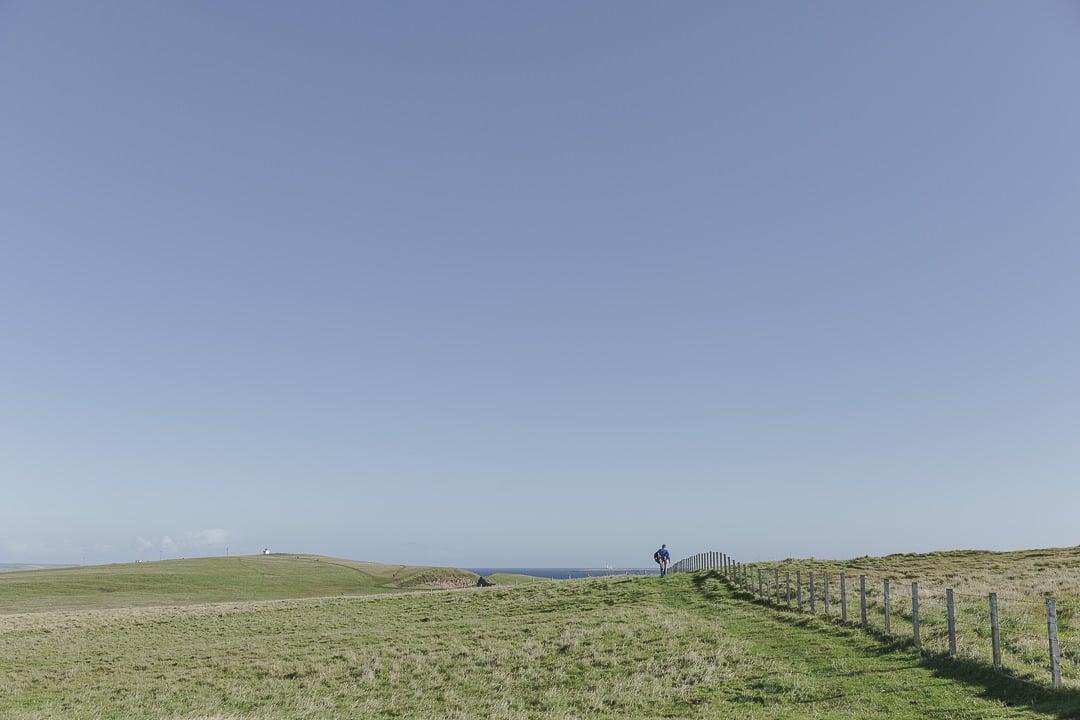 Randonnée à Duncansby head dans les highlands en Ecosse