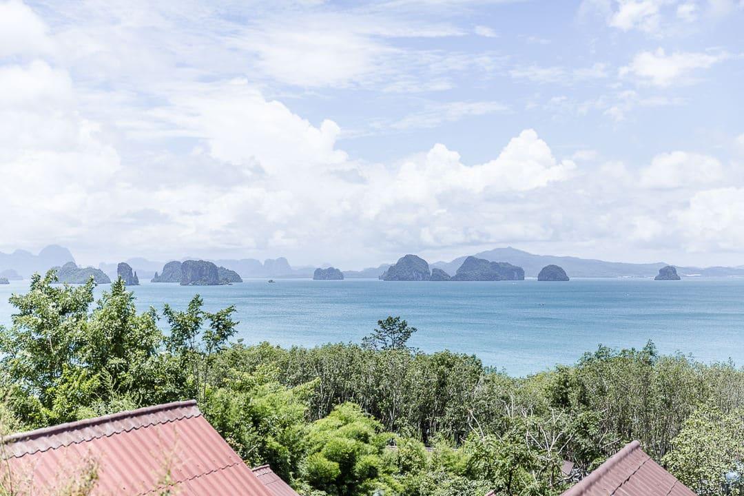 Vue depuis Tabeak viewpoint sur Koh Yao Noi - Thailande