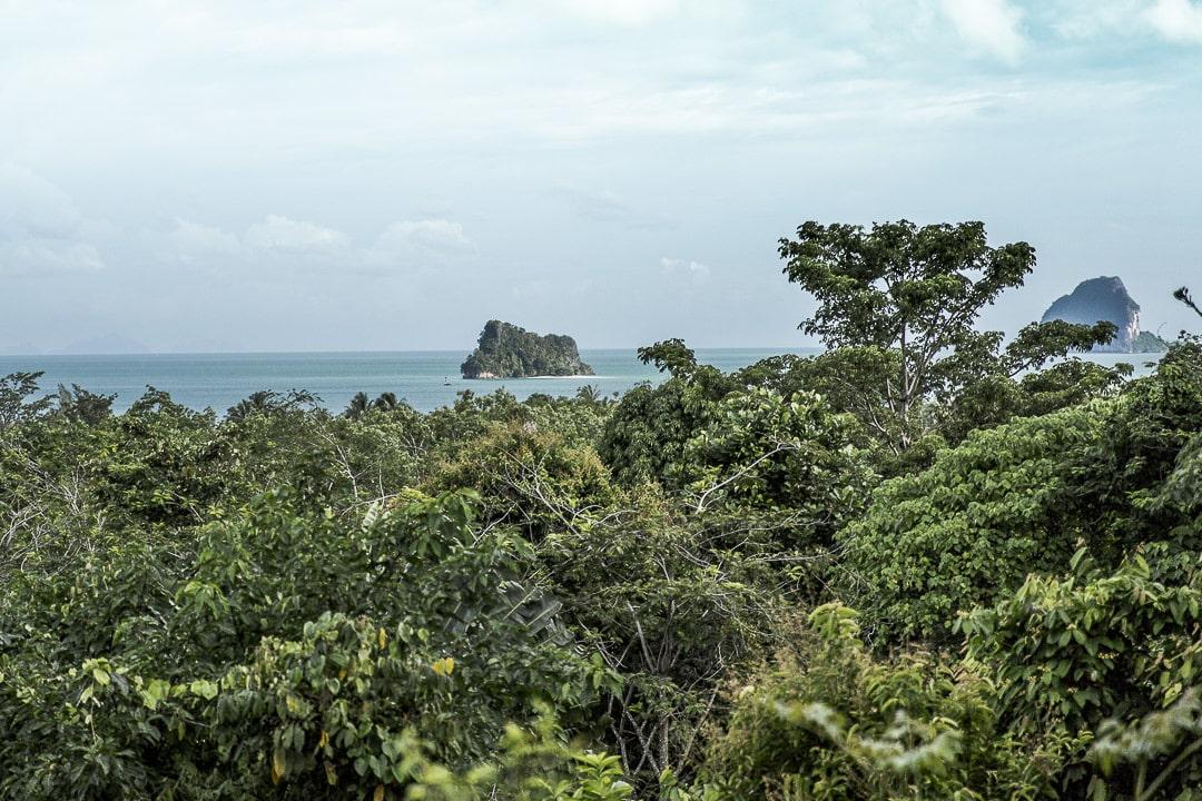 Vue depuis la terrasse de Tabeak viewpoint, Koh Yao Noi Thaïlande