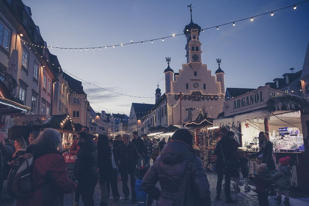 Marché de Noël à Kempten - bavière, Allemagne