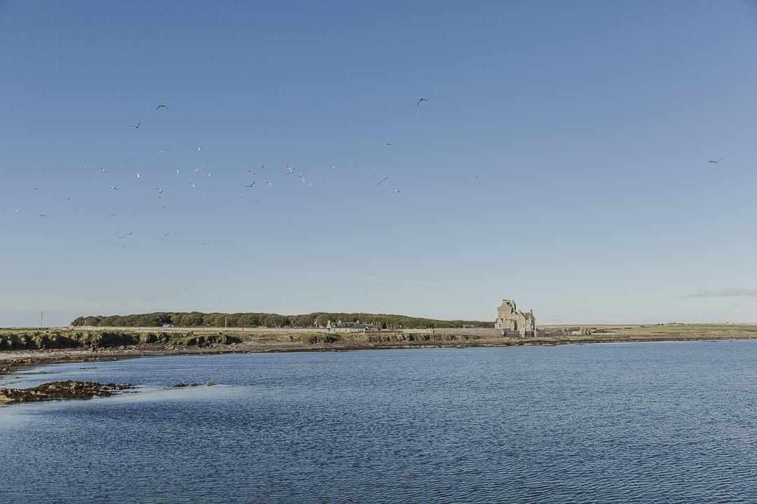 Le chateau d'Ackegill à côté de Wick sur la North Coast 500 en Ecosse