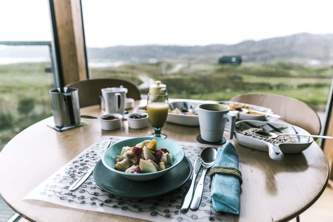 Petit déjeuner à The grey House, un chouette Air BnB sur la North Coast 500 en Ecosse