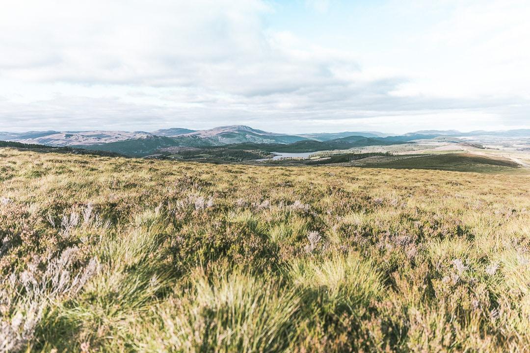 Les environs d'Inverness : Loch et bruyères d'automne