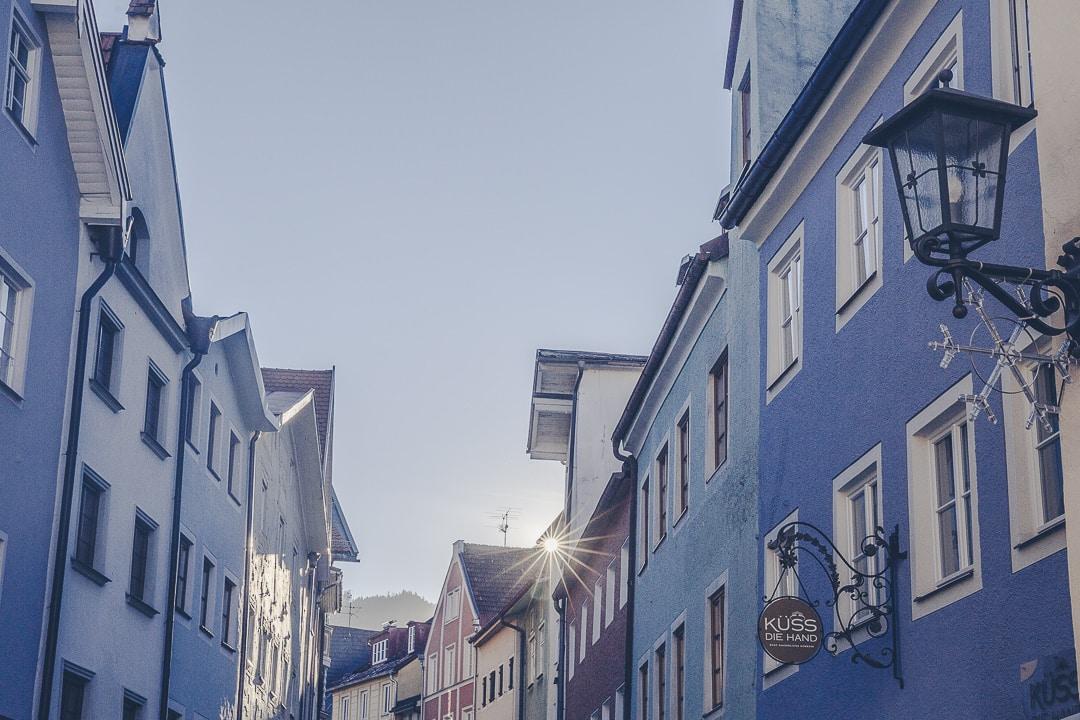 Les maisons colorées de Füssen - Bavière, Allemagne