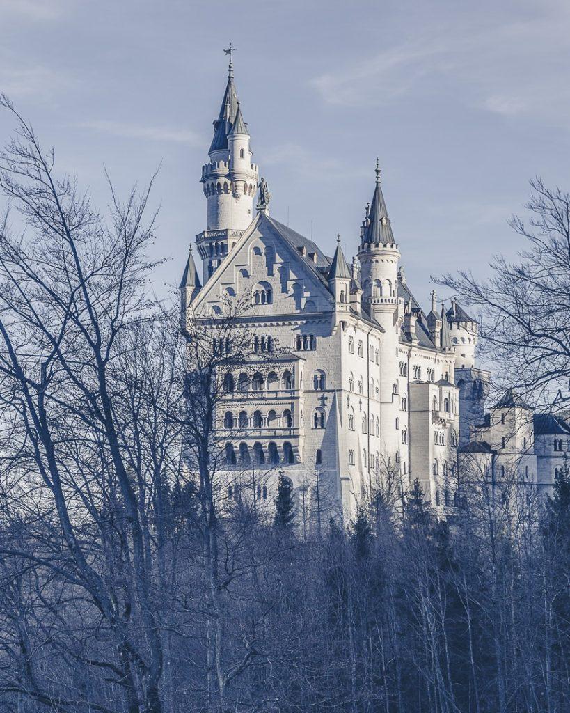 Chateau de Neuschwanstein sur la route romantique allemande en bavière