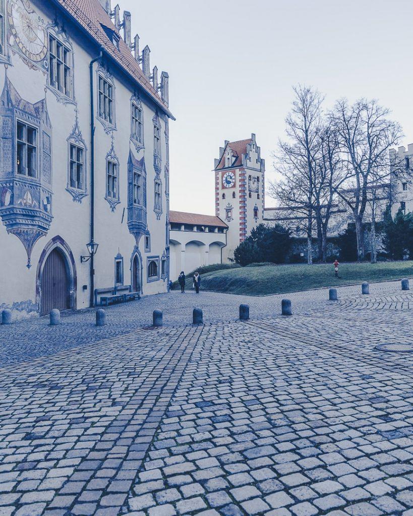 Cour du chateau de Füssen, Bavière - Allemagne