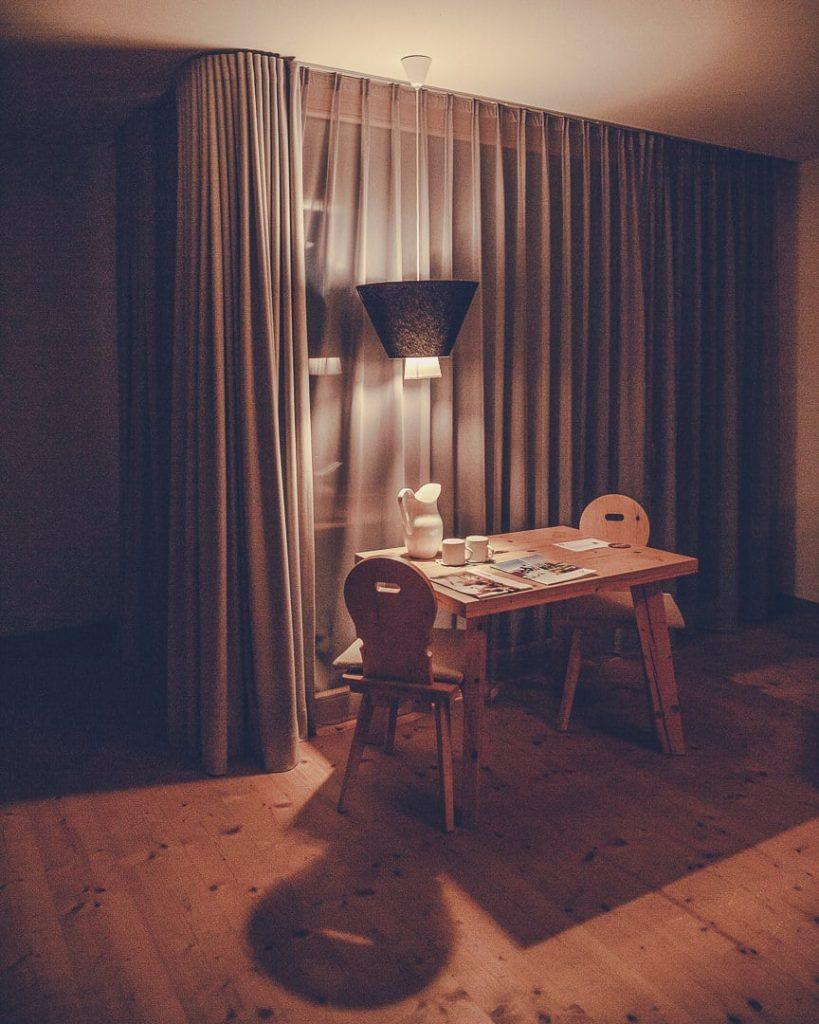 Détail de la chambre de l'hotel Obertsdorf en Bavière - Allemagne