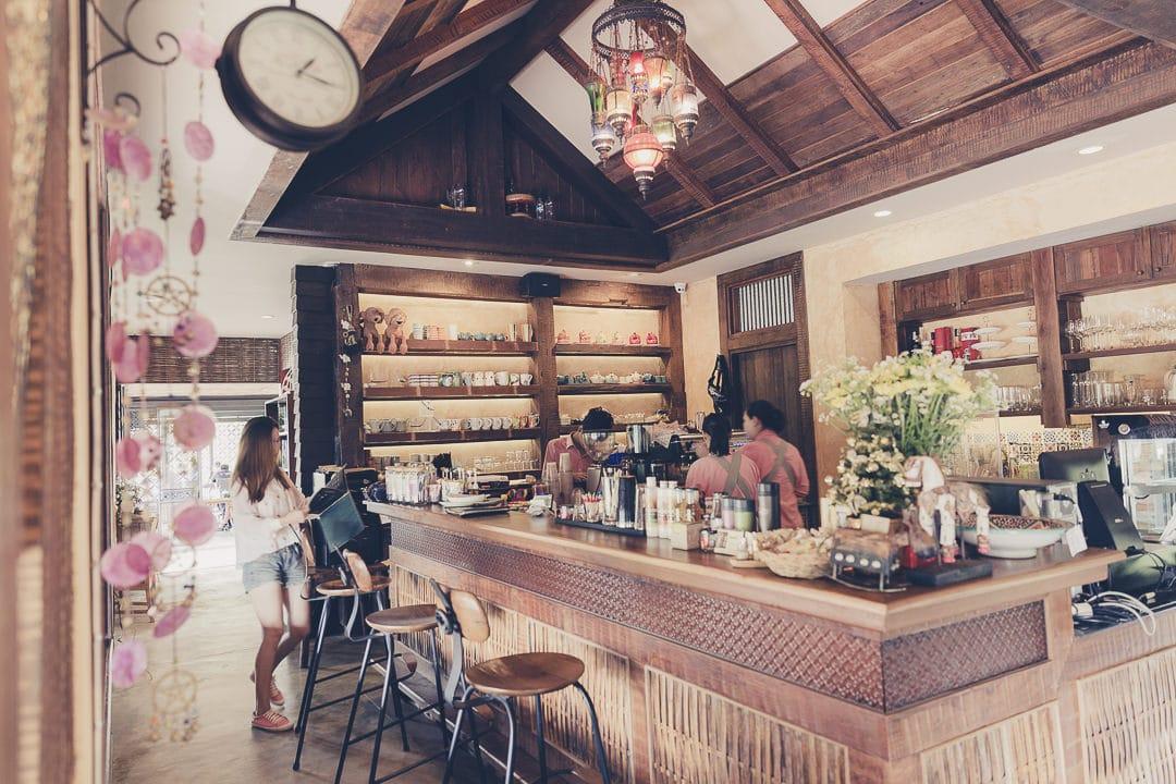 Nord de la Thaïlande - Bar du resort Baan Mon Muan