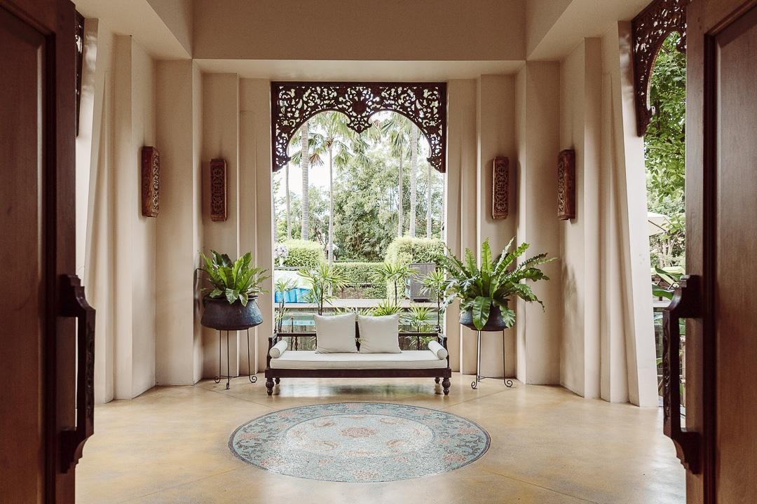 Hall extérieur de l'hotel Siripanna villa Resort & spa à Chiang mai