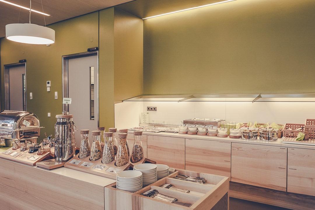Petit déjeuner du Green city hotel Fribourg, Allemagne - Hotel écologique et design