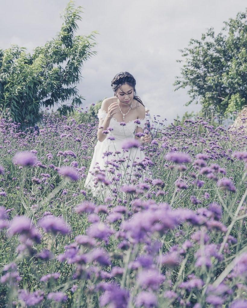 Mariée dans les jardins de Mon Cham au nord de la Thaïlande