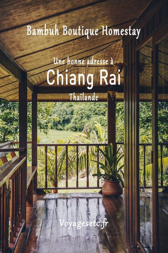 Bambuh Boutique homestay, la bonne adresse où dormir à Chiang Rai en Thaïlande
