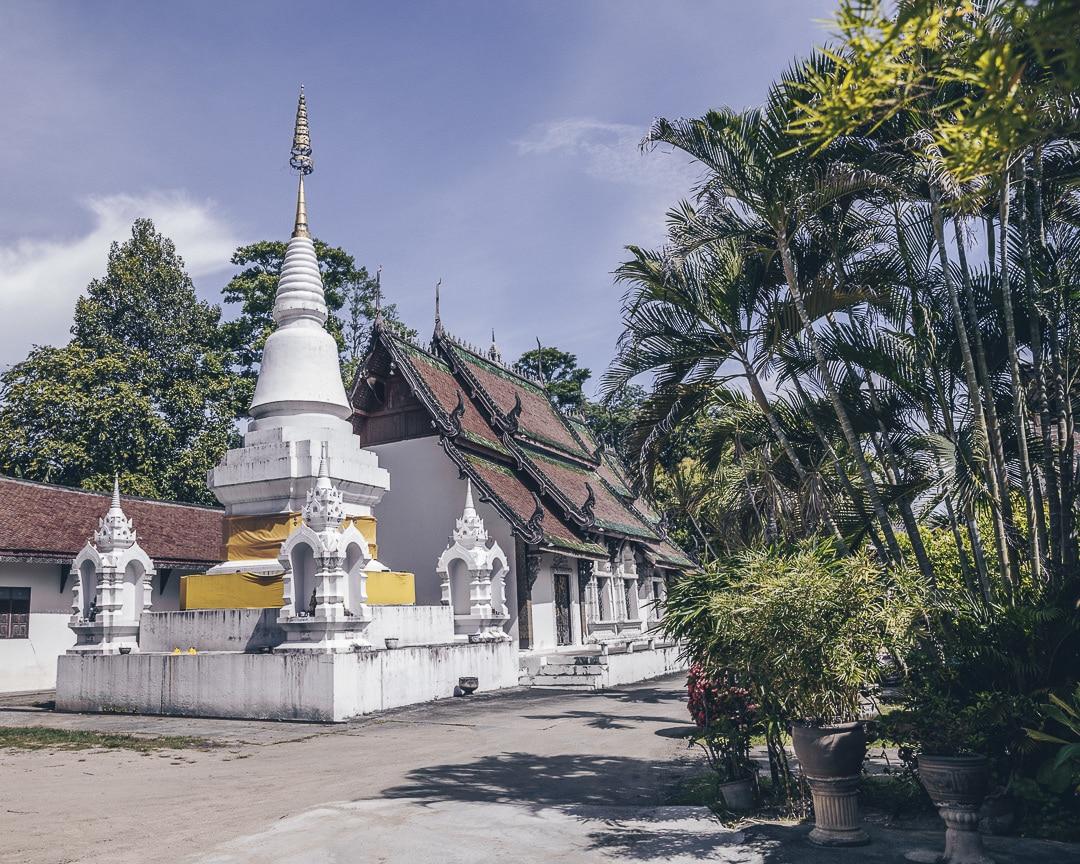 Arrière du Wat Pratu Pong à Lampang, Thailande