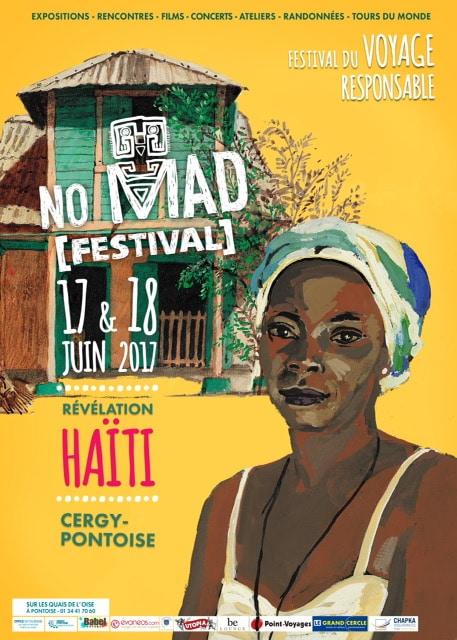 Affiche de la 3ème édition du No Mad Festival à Cergy Pontoise