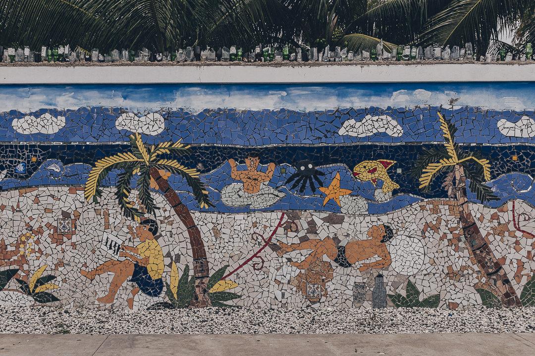 Mosaïque de Lakou NEw York à Jacmel - Haïti