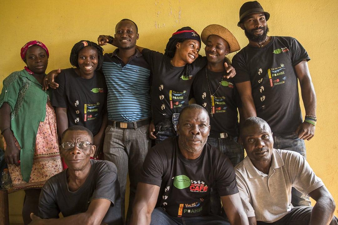 L'équipe de la route du café en Haïti